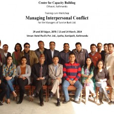Training-cum-Workshop Program on Managing Interpersonal Conflict