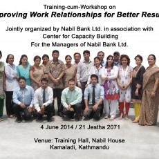Training–cum-Workshop on Improving Work Relationships for Better Results