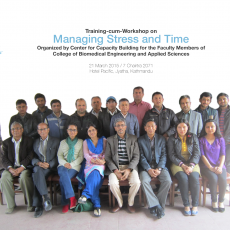 Training-cum-Workshop on Managing Stress and Time