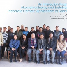 An Interaction Program on Alternative Energy and Sustainability in Nepalese Context: Applications of solar Energy