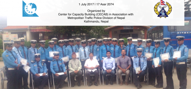 A Training Program on  Improving Work Relationships and Service Delivery organized for the Traffice Police of Nepal