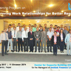 A Training Program on Improving Work Relationships for Better Results